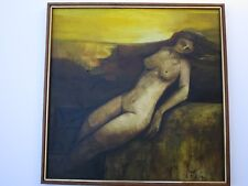 LEONARDNO ZABLAN PAINTING LISTED FILIPINO ABSTRACT EXPRESSIONISM RARE NUDE VNTG
