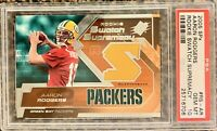 2005 AARON RODGERS SPX Rookie Swatch Supremacy PSA 10 Rookie RC Packers