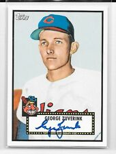 2011 TOPPS LINEAGE AUTOGRAPH REPRINT #RA-GZ GEORGE ZUVERINK AUTO INDIANS