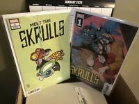 MEET THE SKRULLS 1 Marcos Martin Cover A And Skottie Young Variant 2 Book Lot