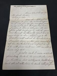 1863 CIVIL WAR LETTER to Soldier's Father Notifying Death at MORRIS ISLAND, S.C.