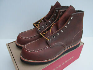 bnib RED WING shoes 8886 UK 9.5  Moc Toe 6-Inch Boot Copper Leather black 8886 0
