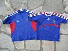 Lot 2 Maillot EQUIPE de FRANCE football 2002 2008 ADIDAS vintage FFF shirt 6 ans