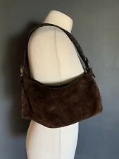 Jigsaw Vintage Brown Suede Shoulder Bag