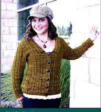 AWESOME BERKELEY SQUARE CARDIGAN to KNIT in WORSTED WEIGHT YARN - FIBER TRENDS