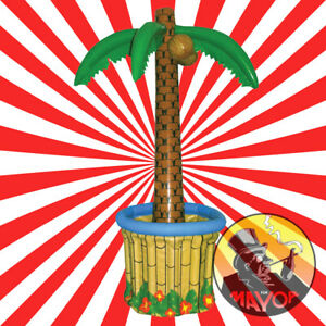170 Inflatable Palm Tree Drinks Beer Cooler BBQ Hawaiian Pool Party Decoration R