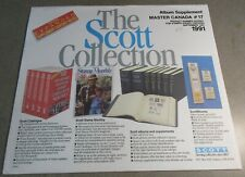 SCOTT MASTER CANADA #17 1991 SUPPLEMENT WITH FREE SHIPPING!!!