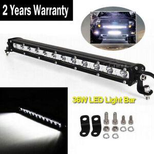 SUPER BRIGHT 36W SPOT SLIM LED Single Row Offroad Work Light Bar ATV SUV