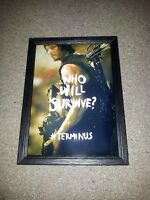 """THE WALKING DEAD : NORMAN REEDUS PP SIGNED & FRAMED 12""""X8"""" A4 POSTER AUTOGRAPHED"""