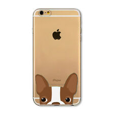 Cute Animal Painted Transparent TPU Case Cover For iPhone 4S 5S SE 5C 6 6S 6SP