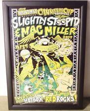 2ND DENVER CANNABIS HIGH TIMES POSTER SLIGHTLY STOOPID MAC MILLER SIGNED #46/50