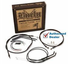 "Burly 16"" Black Handlebar Control Installation Kit Cables 07-13 Harley Sportster"
