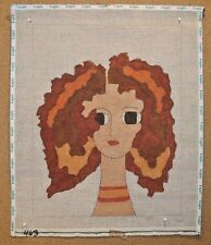 Red Head Wild Hair Lady Woman Handpainted Needlepoint Canvas