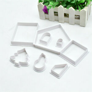 8PCS DIY Christmas Cookie Cutter Pastry Baking Mold Biscuit Steel Set Xmas Gift