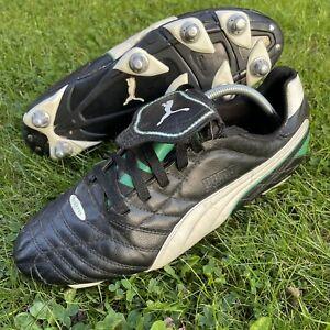Retro Mens Classic Puma Esito SG Rugby Football Boots Black Size UK 11 EU 46
