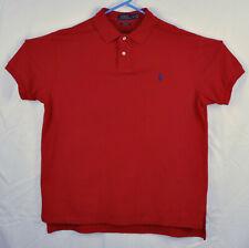 Polo Ralph Lauren 100% Cotton Mesh Custom Fit Polo Shirt Size XL