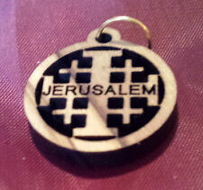 Kreuze und Anhänger f. Halskette aus Olivenholz, Holz, Jerusalemkreuz, Bethlehem
