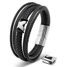 SERASAR Herrenarmband aus Leder, verschiedene Farben & Längen, Tolles Geschenk