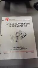 "NEW RANSOMES LYNX 48""CUTTER DECK XDTB0480 PARTS MANUAL  6/93 2188119"
