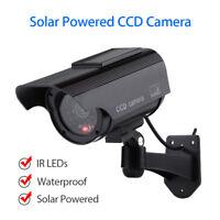 Solarenergie Dummy Kamera CCD Wasserdicht Überwachung LED blinkt Realistisch IR