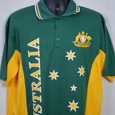Australia Joey Roo Mens Size 2Xl Rugby Soccer Cricket Shirt Jersey Yellow Green