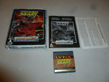 ATARI LYNX VIDEO GAME SHADOW OF THE BEAST COMPLETE W BOX & MANUAL VINTAGE 1992