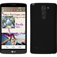 Hardcase for LG G3 Stylus rubberized black Cover + protective foils