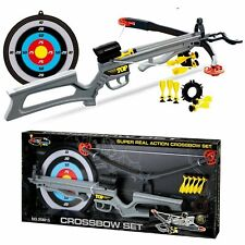 Children Infrared Crossbow Gun Set With Arrows Target Kids Play Shooting Archery