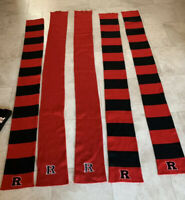 LOT 5 RUTGERS UNIVERSITY SCARLET KNIGHTS Red Black SCARF WRAP scarves FREE HAT