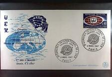 France 1967 FDC 1573 UER Radio and TV Europarat Union Europa Cept Sport