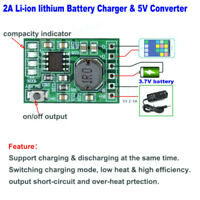 2A DC 5V Lithium Li-ion 18650 3.7V Batter Charger Board Power Converter Module