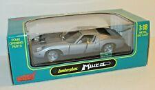 Anson Metal Series Lamborghini Miura 1:18 Die Cast Silver Four Opening Parts NIB