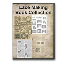 Lace Making Instructions Patterns Techniques - 23 Instructional Books on Cd B413