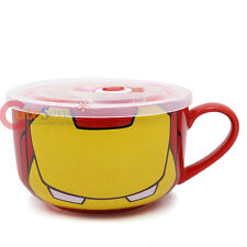 Marvel Heroes Iron Man Ceramic Mug Soup Bowl with Lid