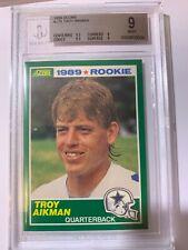 1989 SCORE TROY AIKMAN ROOKIE CARD #270 BGS 9