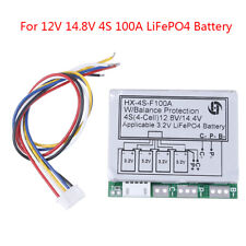 4S 100A 12.8V w/balance LiFePo4 LiFe 18650 battery cell BMS protection PCB bRCCA