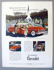 Original 1955 Chevrolet Ad featuring the Bel Air Beauville 4-Door Station Wagon