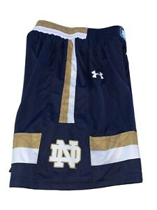 Notre Dame Fighting Irish Under Armour Youth Medium Basketball Shorts New