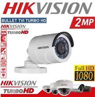 HIKVISION TELECAMERA BULLET 2MP 3,6MM 1080P IP66 TVI CVBS AHD VISIONE NOTTURNA