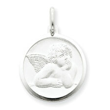 Sterling Silver Satin Angel Charm QC637