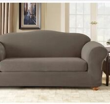 Surefit Sofa Slipcover Stretch Sterling BRAND NEW -TAUPE COLOR Soft Machine Wash