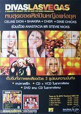 Divas Las Vegas Thailand Promo Poster: Cher,Celine,Shakira,Dixie Chicks,Stevie