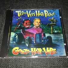 TESCO VEE'S HATE POLICE Gonzo Hate Vibe CD FIRST PRESS Staple Gun Records