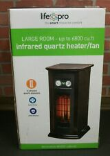 Life Pro Large Room Infrared Quartz Tower Space Heater with Fan NEW in Box