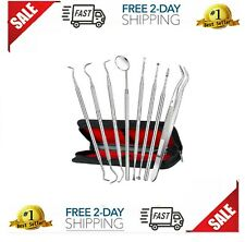 New listing Professional Dental Oral Hygiene Kit 8 Tools Deep Cleaning Scaler Teeth Care Set