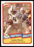 1989 Hall of Fame RED #81 Lenny Moore HOF RARE Baltimore Colts / Penn State