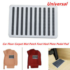 Universal Stainless Car Floor Carpet Mat Patch Foot Heel Plate Pedal Pad Silver