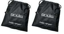TWO(2) - Portable Hair Dryer Storage Bag Black Andis 30050