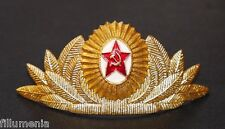 Authentic Soviet USSR Military Uniform Officer Parade Hat Badge Cockade Insignia
