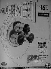 PUBLICITÉ 1956 SOM SOCIÉTÉ D'OPTIQUE ET MÉCANIQUE DE PRÉCISION - ADVERTISING